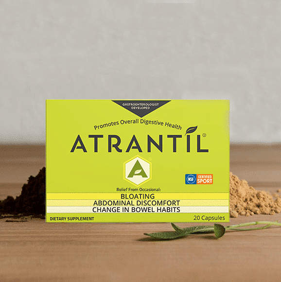 20 count travel pack of Atrantil with Ingredients around it
