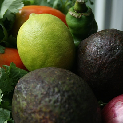 Organic Guacamole with Zucchini Chips Ingredients