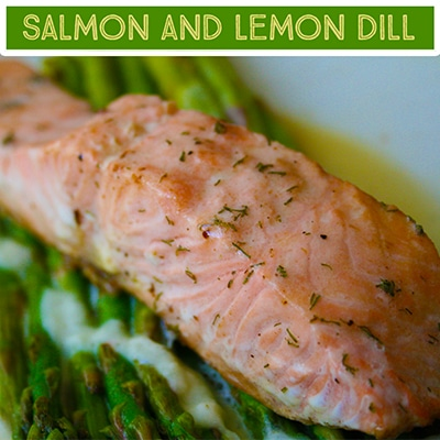 Salmon Fillet and Lemon Dill