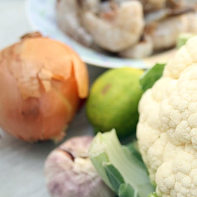 Shrimp and Cauliflower Grits Ingredients