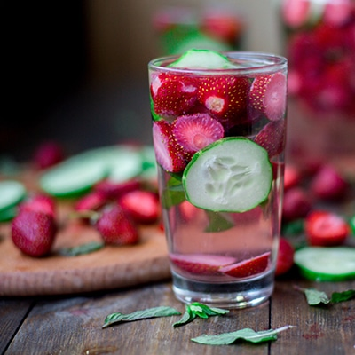 water with fruit