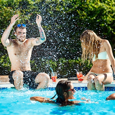 germs in swimming pool