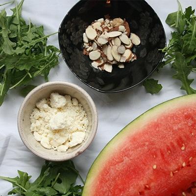 Arugula Watermelon Salad Ingredients