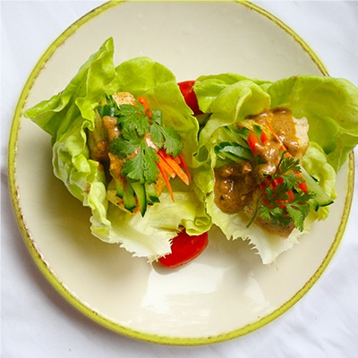 Asian Chicken Lettuce Wrap
