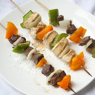 Cumin Steak and Chicken Skewers