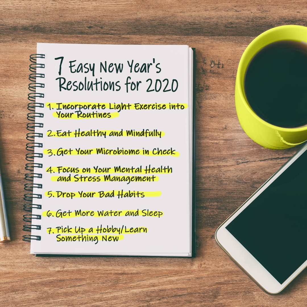 7 Easy New Year's Resolutions for 2020
