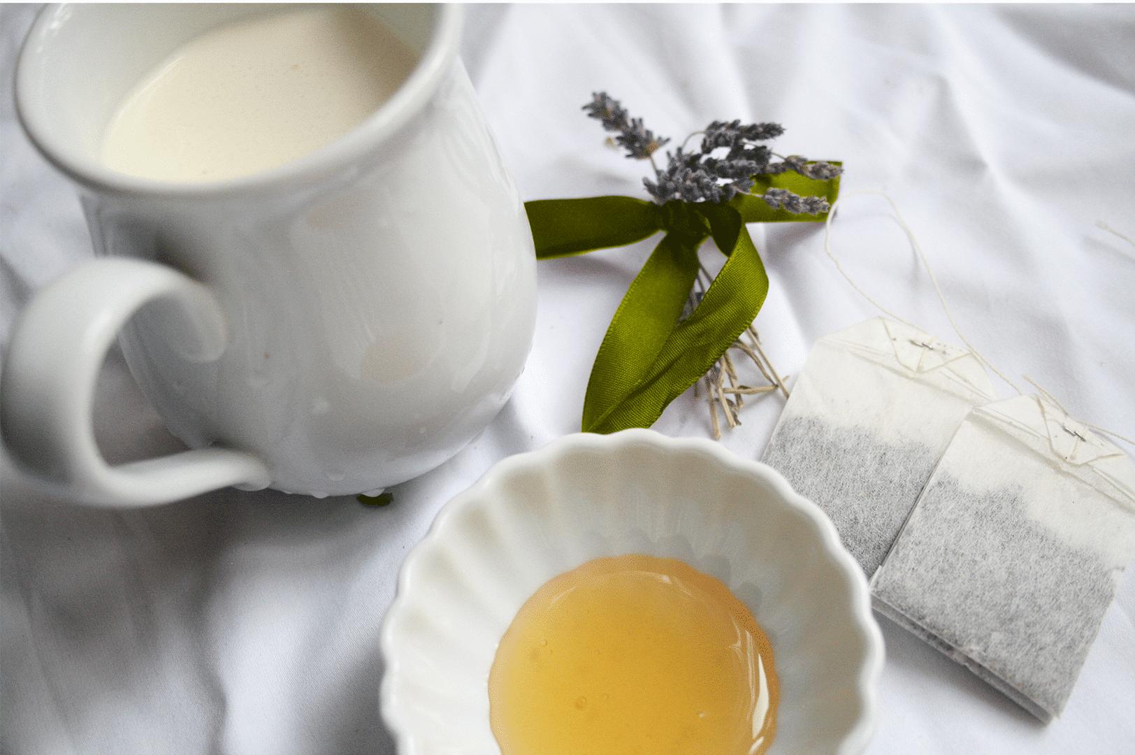 milk tea and lavender