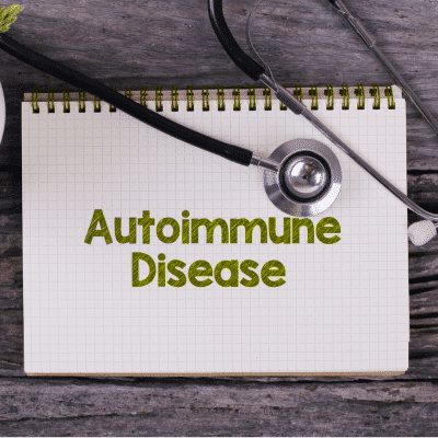 Note Pad with the words Autoimmune Disease on it.