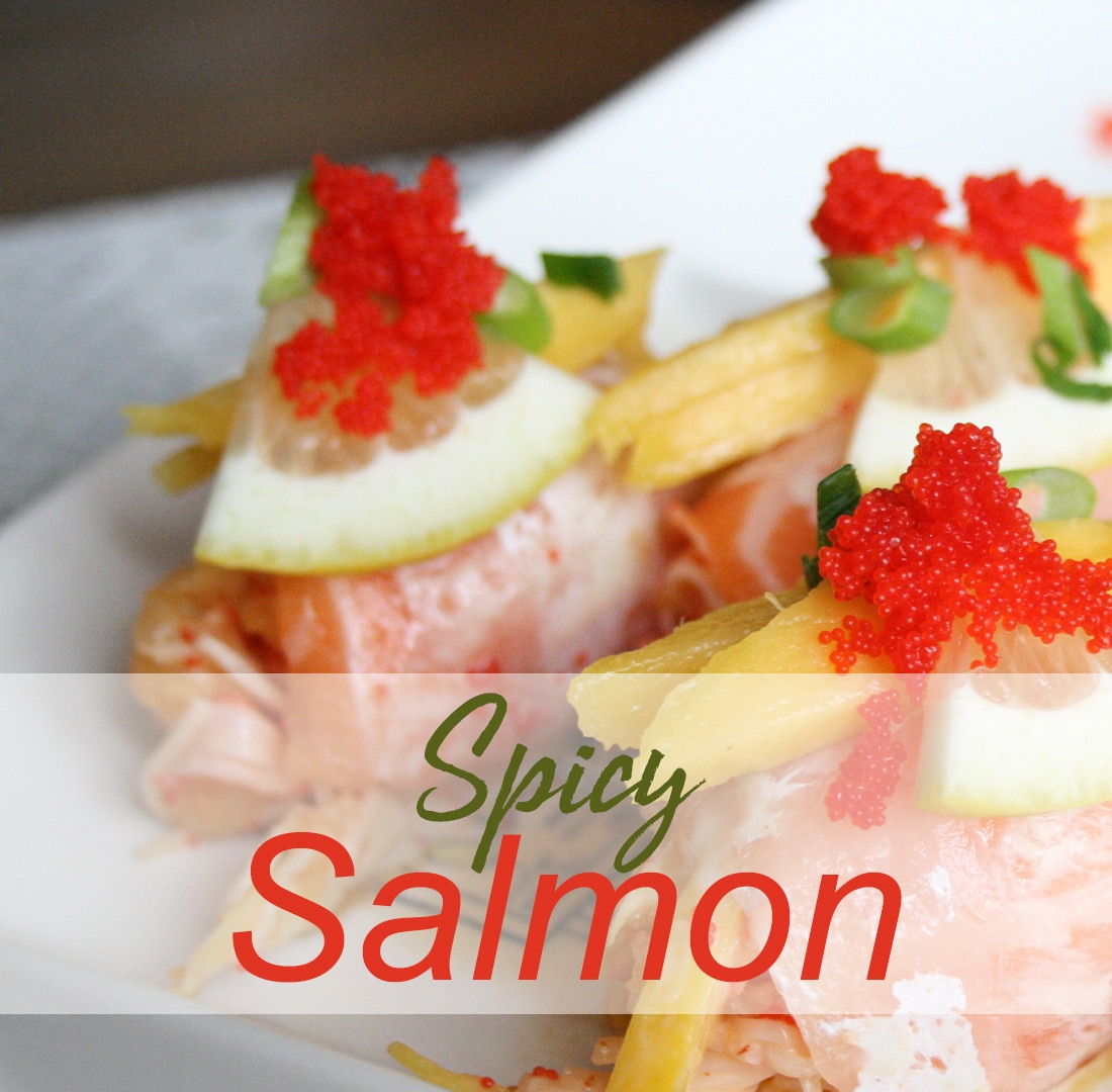 Spicy Salmon Crab Bombs