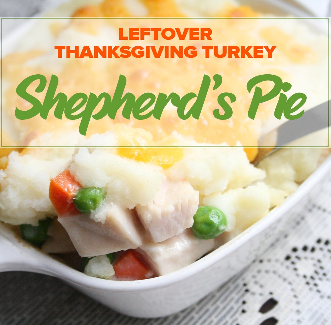 Leftover Thanksgiving Turkey Shepherd's Pie