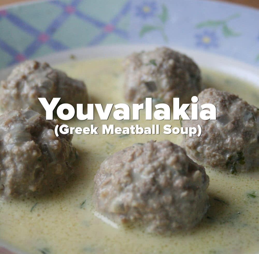 Youvarlakia (Greek Meatball Soup)