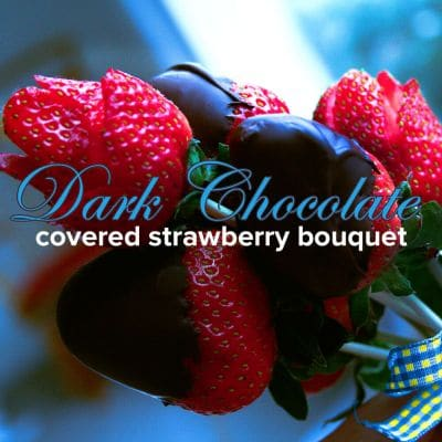 Dark Chocolate Covered Strawberry Bouquet