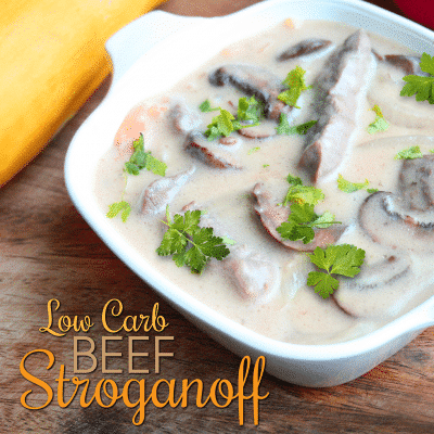 Low Carb Beef Stroganoff