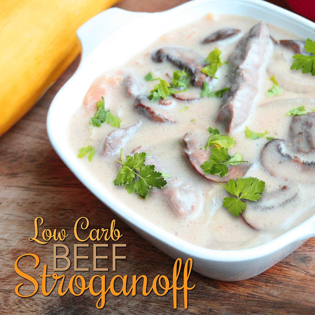 Low Carb Beef Stroganoff