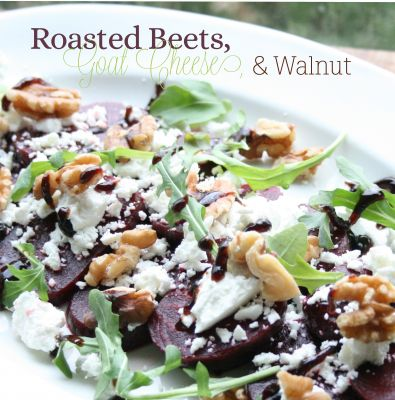 Roasted Beets, Goat Cheese, and Walnut