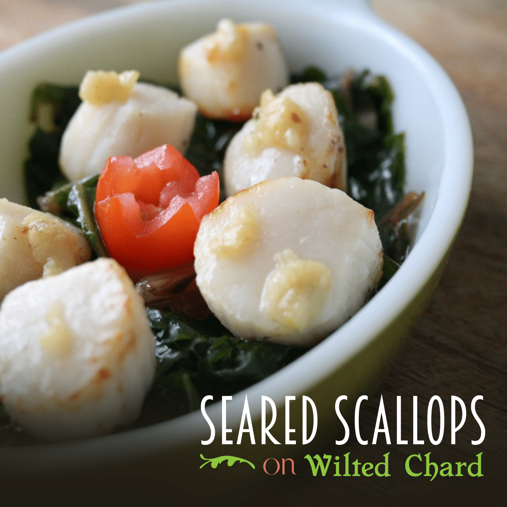 Seared Scallops on Wilted Chard
