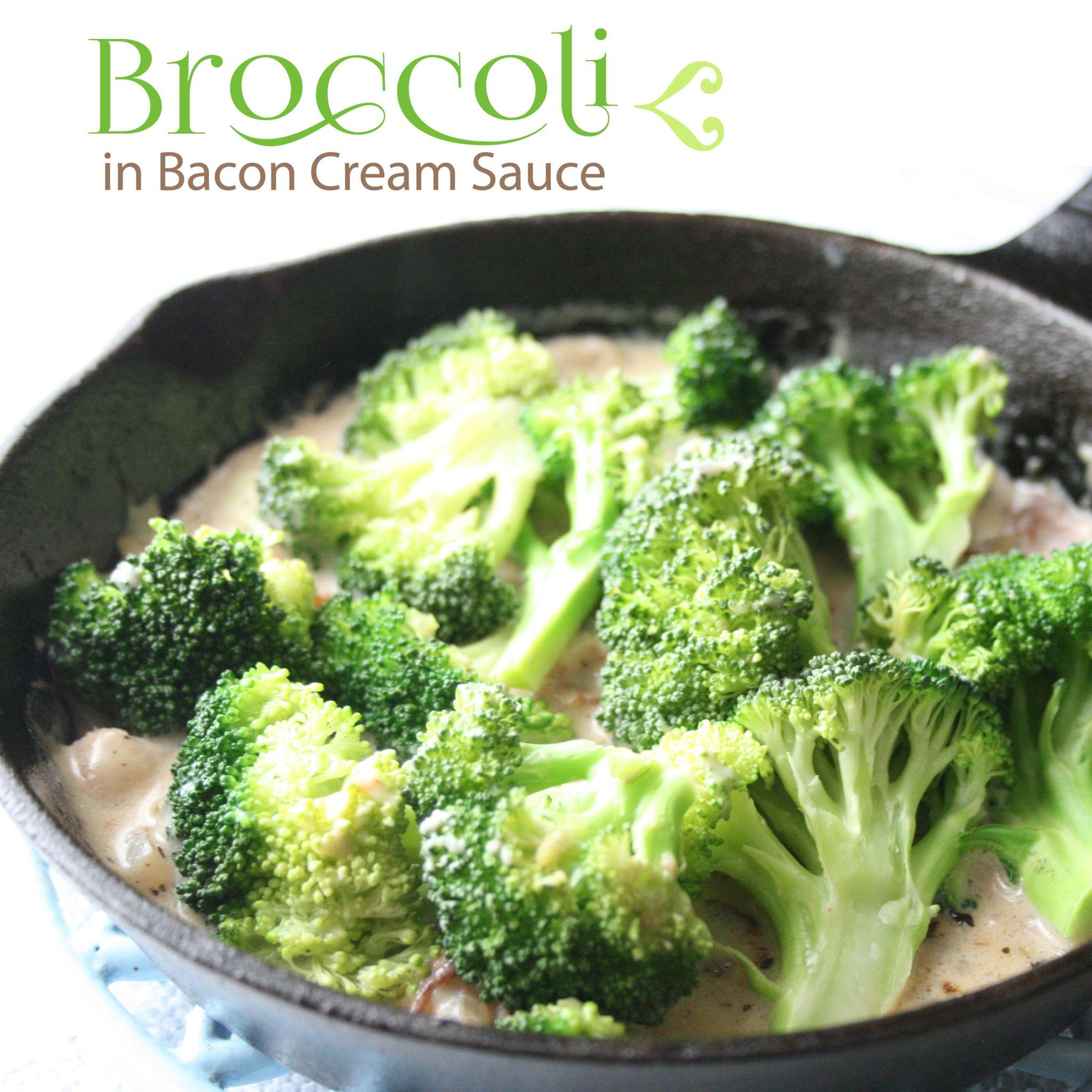 Broccoli In Bacon Cream Sauce